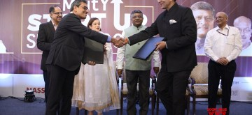 New Delhi: Union Law and Justice, Communications and Electronics and Information Technology Minister Ravi Shankar Prasad at MeitY Startup Summit 2019, in New Delhi on Oct 21, 2019. (Photo: IANS)