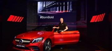 New Delhi: Mercedes-Benz India MD and CEO Martin Schwenk at the launch of Mercedes-AMG C 43 4MATIC Coupe in New Delhi, on March 14, 2019. (Photo: IANS)