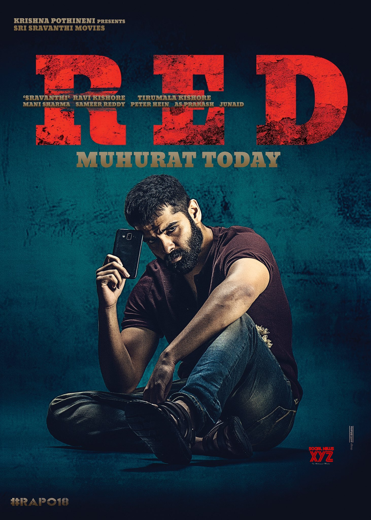 Ram's RED Movie Muhurat Today Poster - Social News XYZ