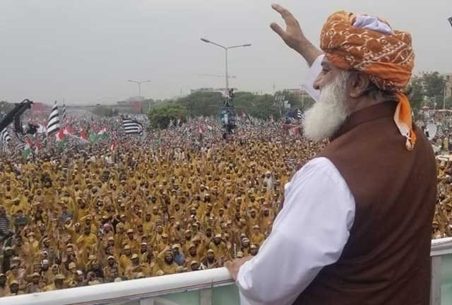 JUI-F chief asks for PM's resignation or fresh polls