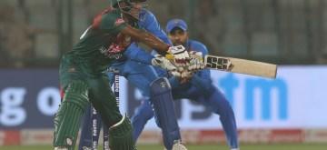 New Delhi: Bangladesh's Mohammad Naim in action during the 1st T20I match between India and Bangladesh at Arun Jaitley Stadium, in New Delhi on Nov 3, 2019. (Photo: Surjeet Yadav/IANS)