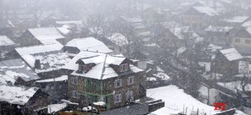 Baramulla in the Indian union territory of Jammu and Kashmir, receives fresh snowfall, on Nov 7, 2019. (Photo: IANS)
