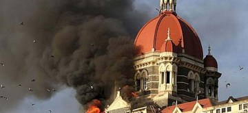 A file photo of 26/11 Attacks on Mumbai. Ten heavily armed Pakistani terrorists had landed undetected in Mumbai's Badhwar Park in Colaba from the sea Nov 26, 2008, and laid siege to several key locations, including Chhatrapati Shivaji Terminus, Taj Mahal Hotel, Chabad House and Leopold Cafe. (Photo: Sandeep Mahankal/IANS)