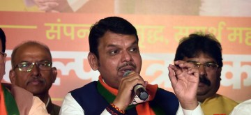 Mumbai: Maharashtra Chief Minister Devendra Fadnavis at the launch of BJP manifesto for upcoming state assembly polls in Mumbai on Oct 15, 2019. (Photo: IANS)
