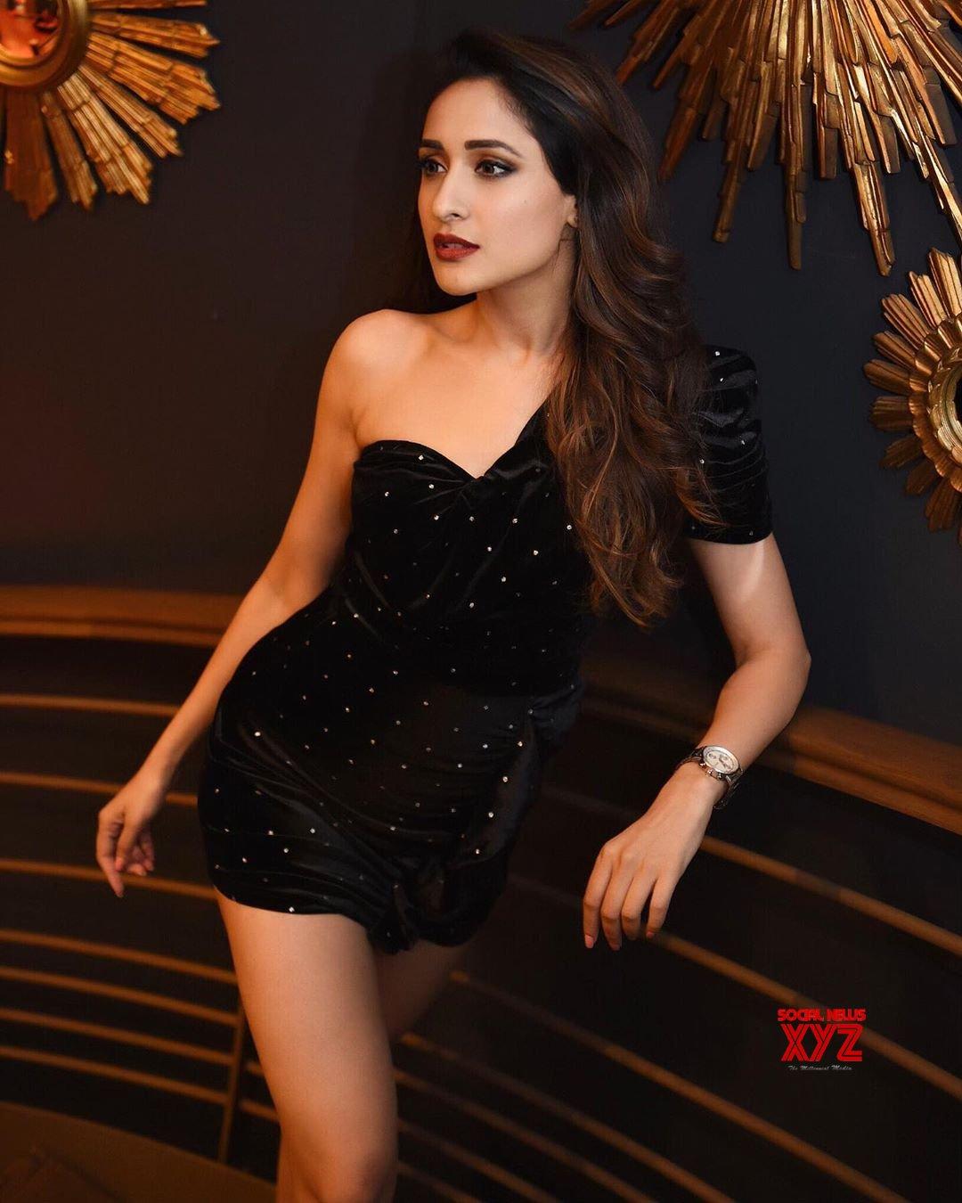 Actress Pragya Jaiswal Sexy New Stills In Little Black Dress
