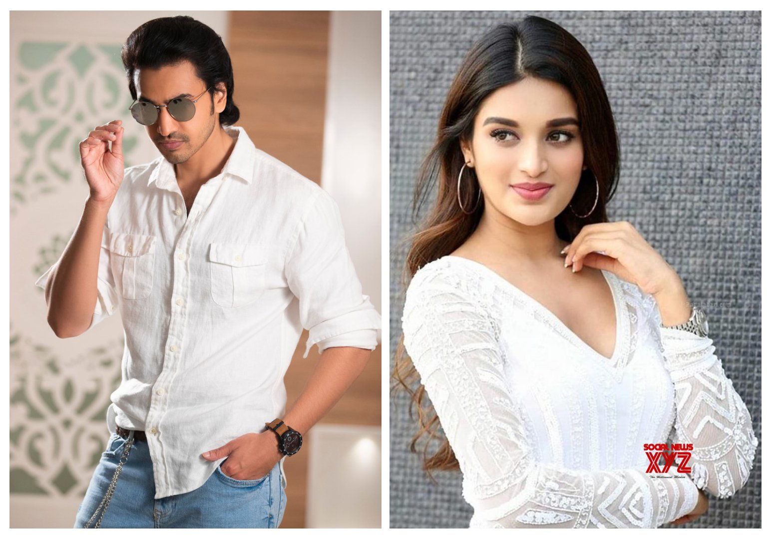 Nidhhi Agerwal In Ashok Galla's Debut Grand Launch On November 10th