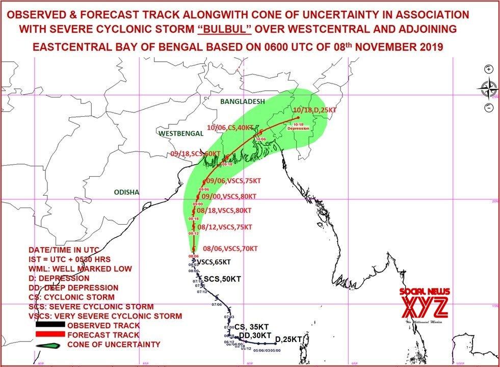 New Delhi: Cyclopne Bulbul likely to make landfall in Sunderbans #Gallery