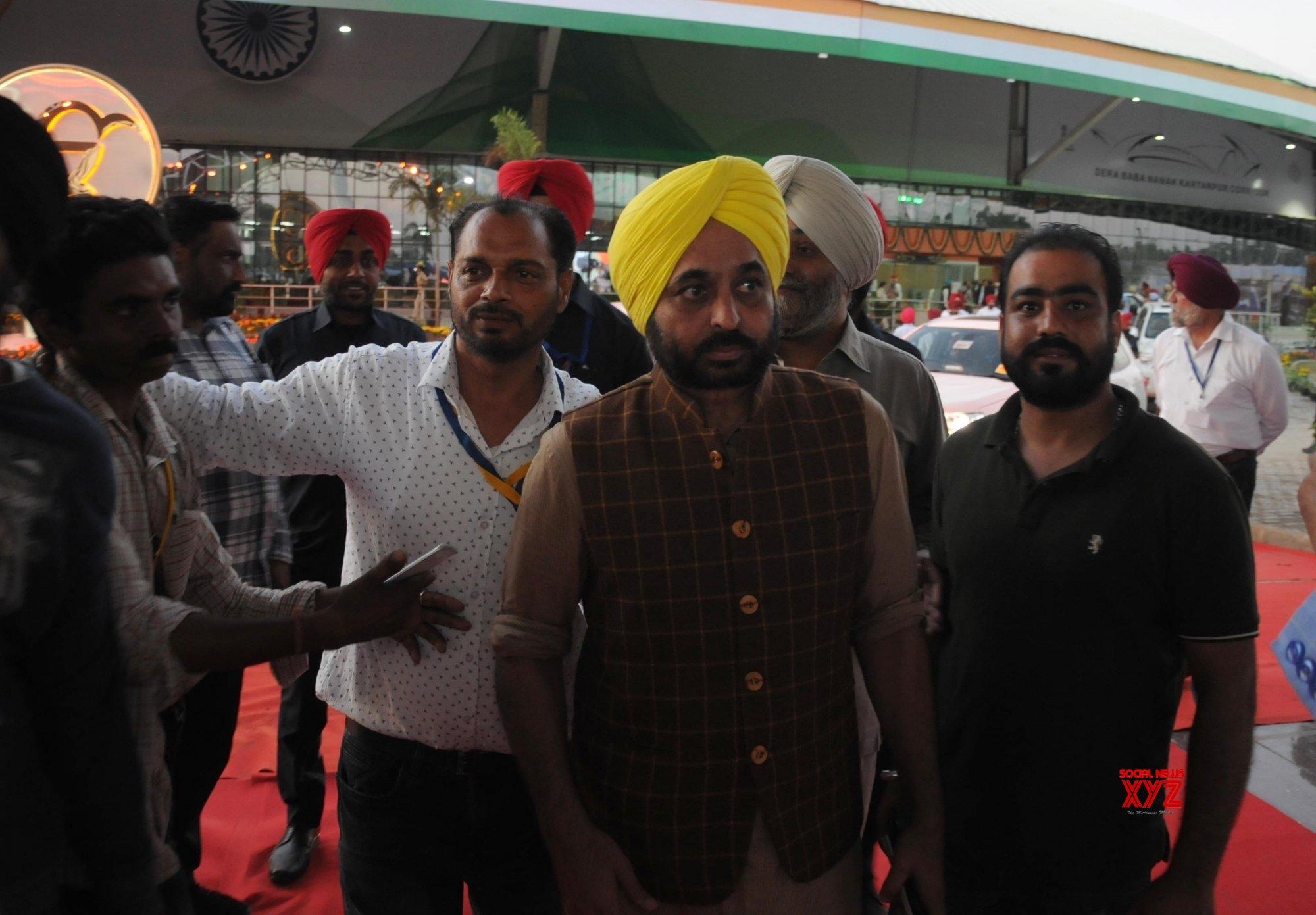Gurdaspur: Bhagwant Mann at newly inaugurated Integrated Check Post of Kartarpur Corridor in Punjab #Gallery