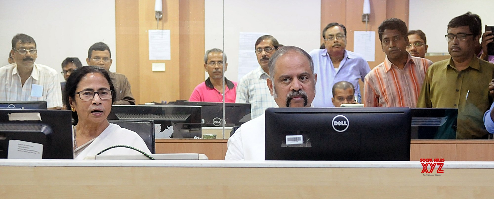 Howrah: CM Mamata at Nabanna control room #Gallery