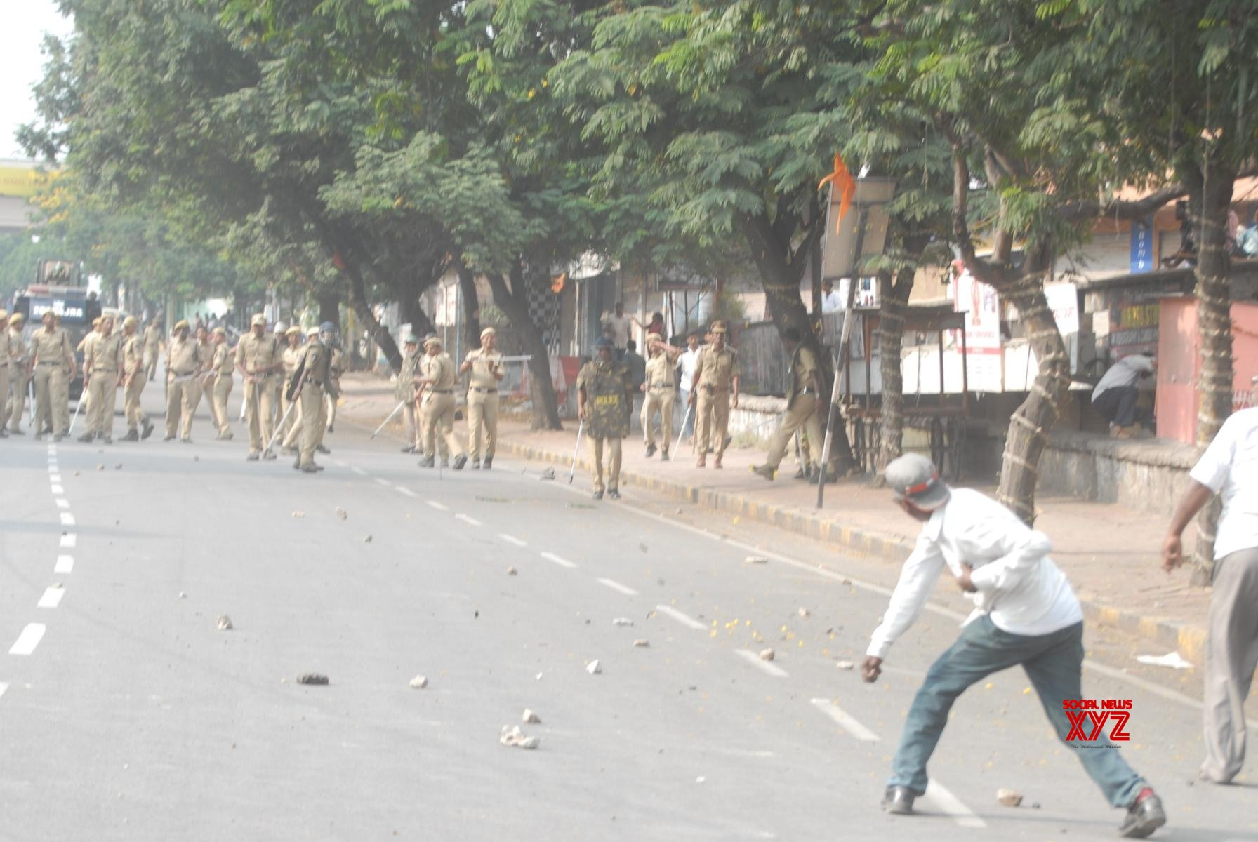 Hyderabad: RTC employees clash with police during protest #Gallery