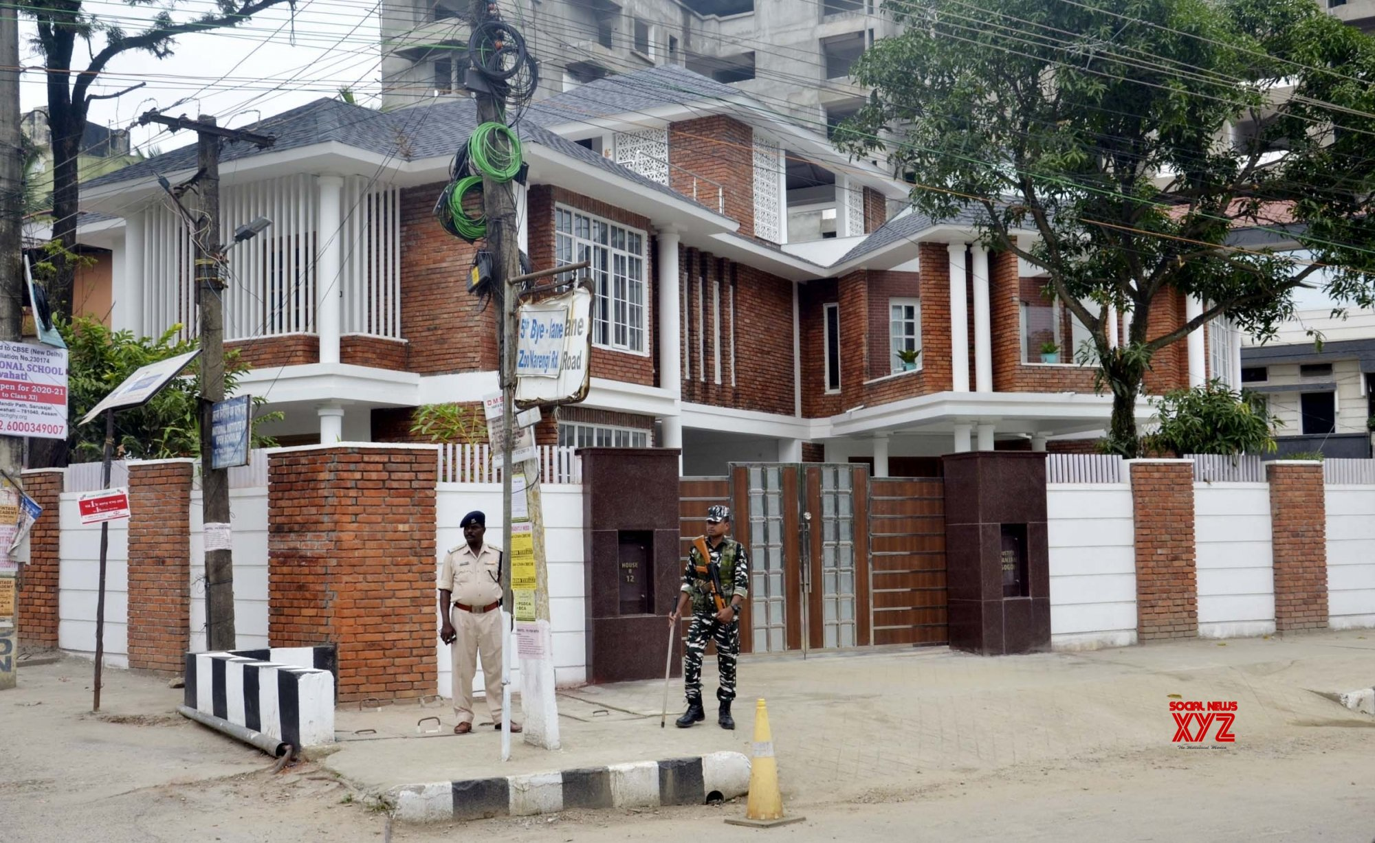 Guwahati: Tight security outside CJI Ranjan Gogoi's residence in Assam #Gallery