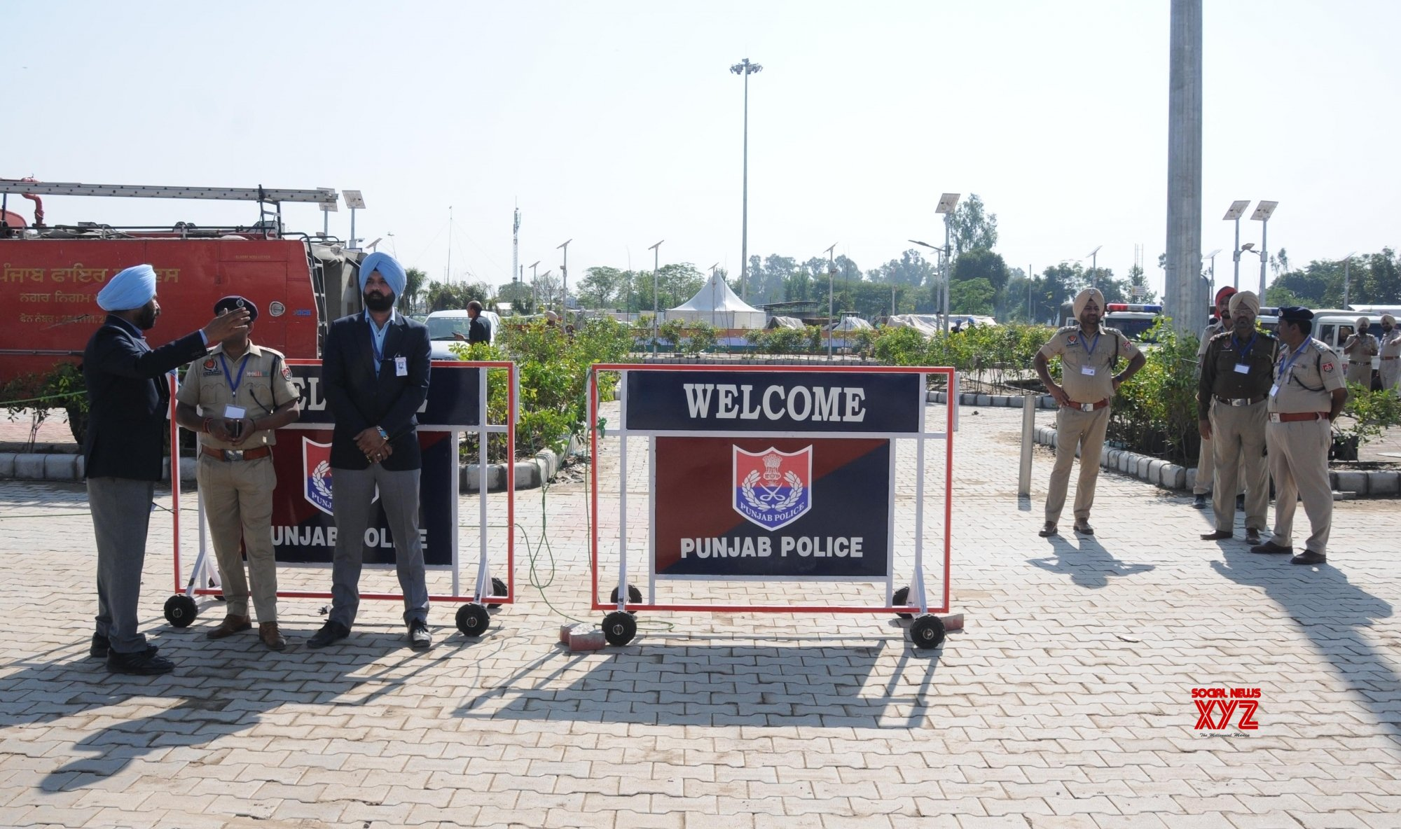 Dera Baba Nanak: Security beefed up at Integrated Check Post of Kartarpur corridor in Punjab #Gallery