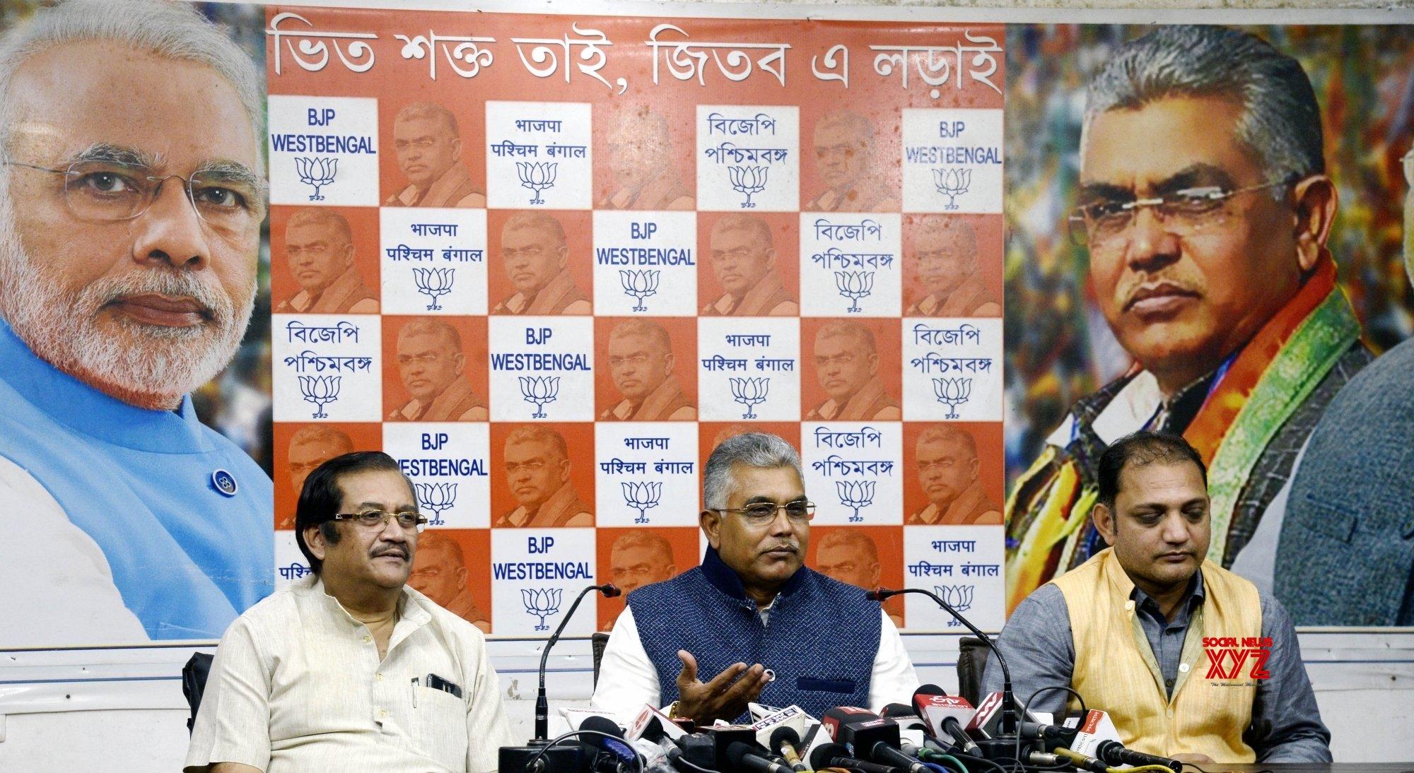 Kolkata: Dilip Ghosh's press conference #Gallery