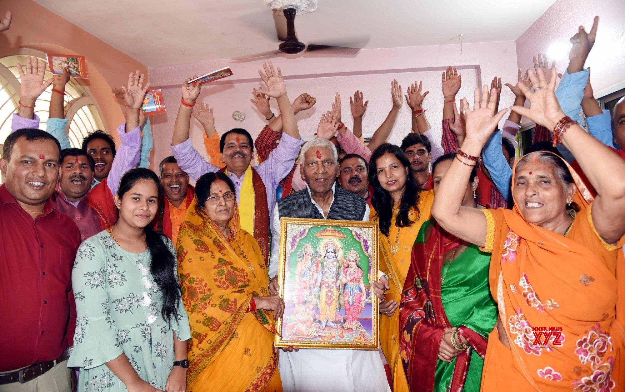 Patna: Ayodhya verdict - Mithilesh Kumar Singh performs special 'puja' to celebrate SC's Ayodhya verdict #Gallery