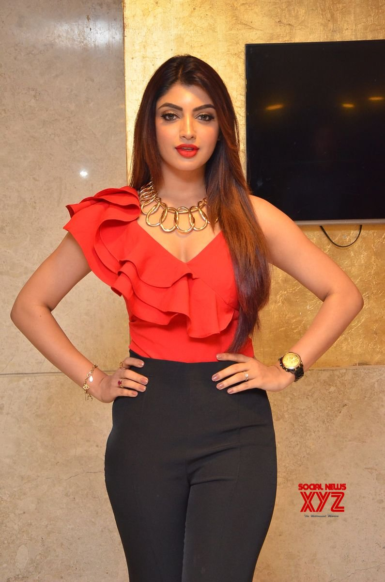 Actress Akanksha Glam Stills From Action Movie Pre Release Event