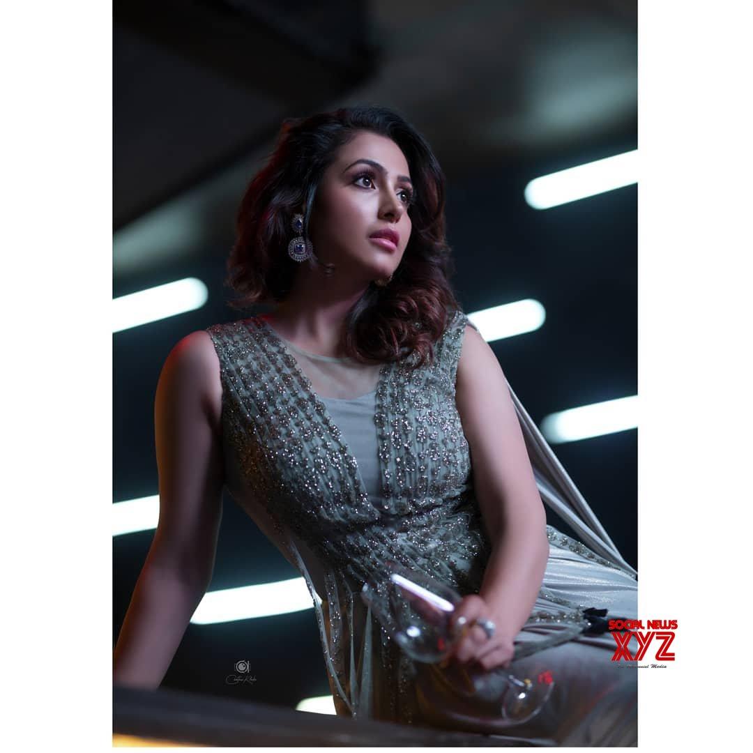 Actress Nandini Rai Latest Hot Stills In Neerus India Party Dress