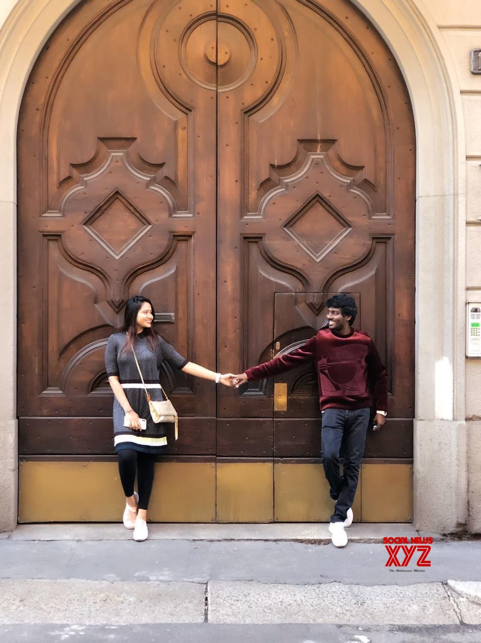 Atlee And Priya Atlee Still From Italy Celebrating Their Wedding Anniversary