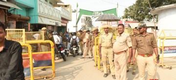 Ayodhya: Security beefed up in Ayodhya, Uttar Pradesh on Nov 8, 2019. (Photo: IANS)