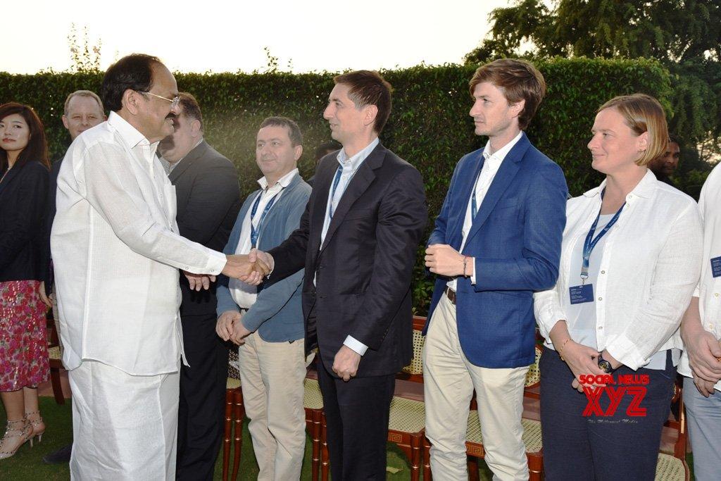 New Delhi: Venkaiah Naidu interacts with delegates of YPO Europe One #Gallery