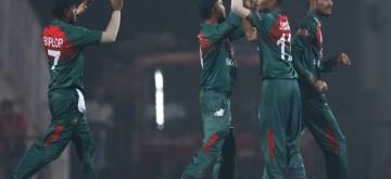 Nagpur: Nagpur: Bangladesh's Shafiul Islam celebrates fall of Shikhar Dhawan's wicket during the 3rd T20I match between India and Bangladesh at Vidarbha Cricket Association Stadium in Nagpur on Nov 10, 2019. (Photo: Surjeet Yadav/IANS)