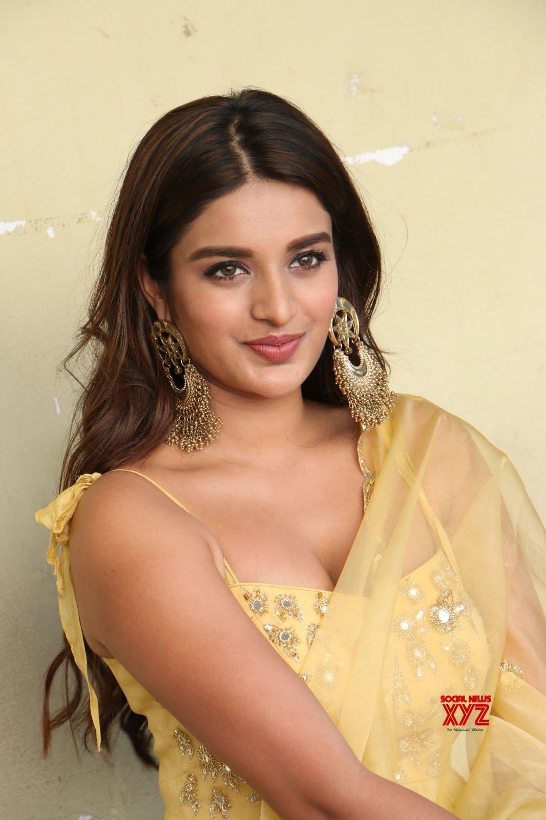 Actress Nidhhi Agerwal Hot Stills From Ashok Galla Debut Movie Opening