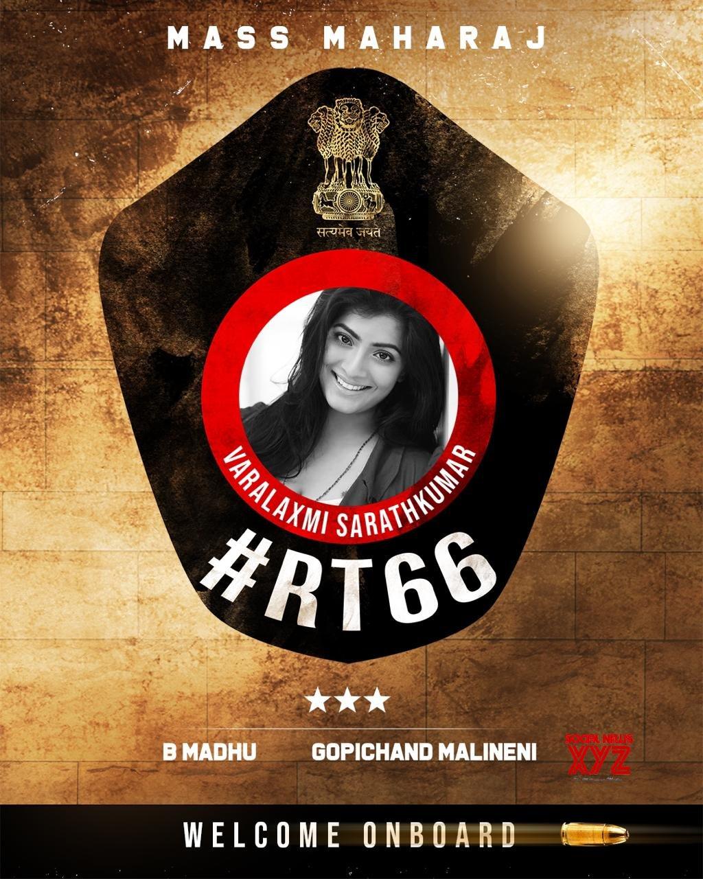 Varalaxmi Sarathkumar Onboard For Ravi Teja And Gopichand Malineni's RT66
