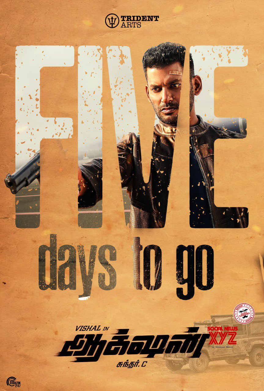 Vishal's Action Movie 5 Days To Go Poster