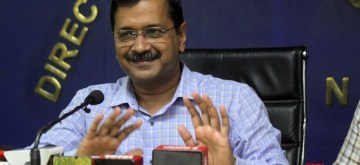 New Delhi: Delhi Chief Minister Arvind Kejriwal addresses a press conference in New Delhi on Nov 8, 2019. Addressing the media, Kejriwal on Friday announced that commuters in the national capital will not have to face the Odd-Even scheme on November 11 and 12 due to the celebration of the 550th birth anniversary of Guru Nanak Dev. the decision came after people from the Sikh community requested the government to relax the rules as they celebrate the birth anniversary of their faith's founder on November 12. (Photo: IANS)