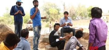 Hyderabad: George Reddy Movie Working Stills. (Photo: IANS)