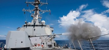 MK 45 5 inch/62 caliber (MOD 4) naval gun manufactured by BAE Systems. The US has approved the sale of 13 such guns and related equipment and services worth $1 billion to India. (Photo: BAE Systems)
