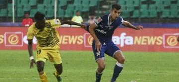 Chennai: Players in action during Indian Super League (ISL) match Chenniyain FC and Hyderabad FC at Jawaharlal Nehru Stadium in Chennai on Nov 25, 2019. (Photo: IANS)