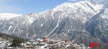Kinnaur: A view of Kalpa after snowfall in Himachal Pradesh's Kinnaur district on Nov 29, 2019. (Photo: IANS)