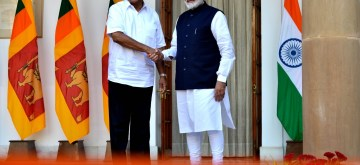 New Delhi: Prime Minister Narendra Modi meets Sri Lankan President Gotabaya Rajapaksa at Hyderabad House, in New Delhi on Nov 29, 2019. (Photo: IANS)
