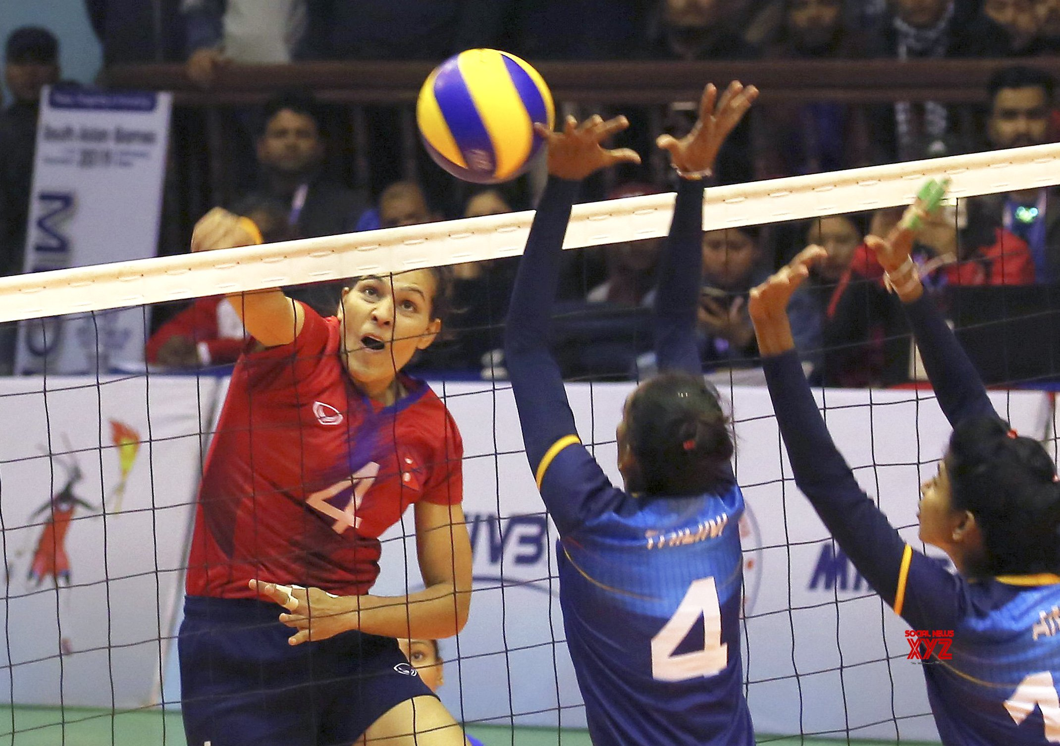 NEPAL - KATHMANDU - 13TH SOUTH ASIAN GAMES - WOMEN'S VOLLEYBALL - SEMIFINAL #Gallery
