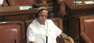 Bengaluru: Leader of the Opposition B.S. Yeddyurappa during council session in the Karnataka Assembly, in Bengaluru on July 23, 2019. (Photo: IANS)