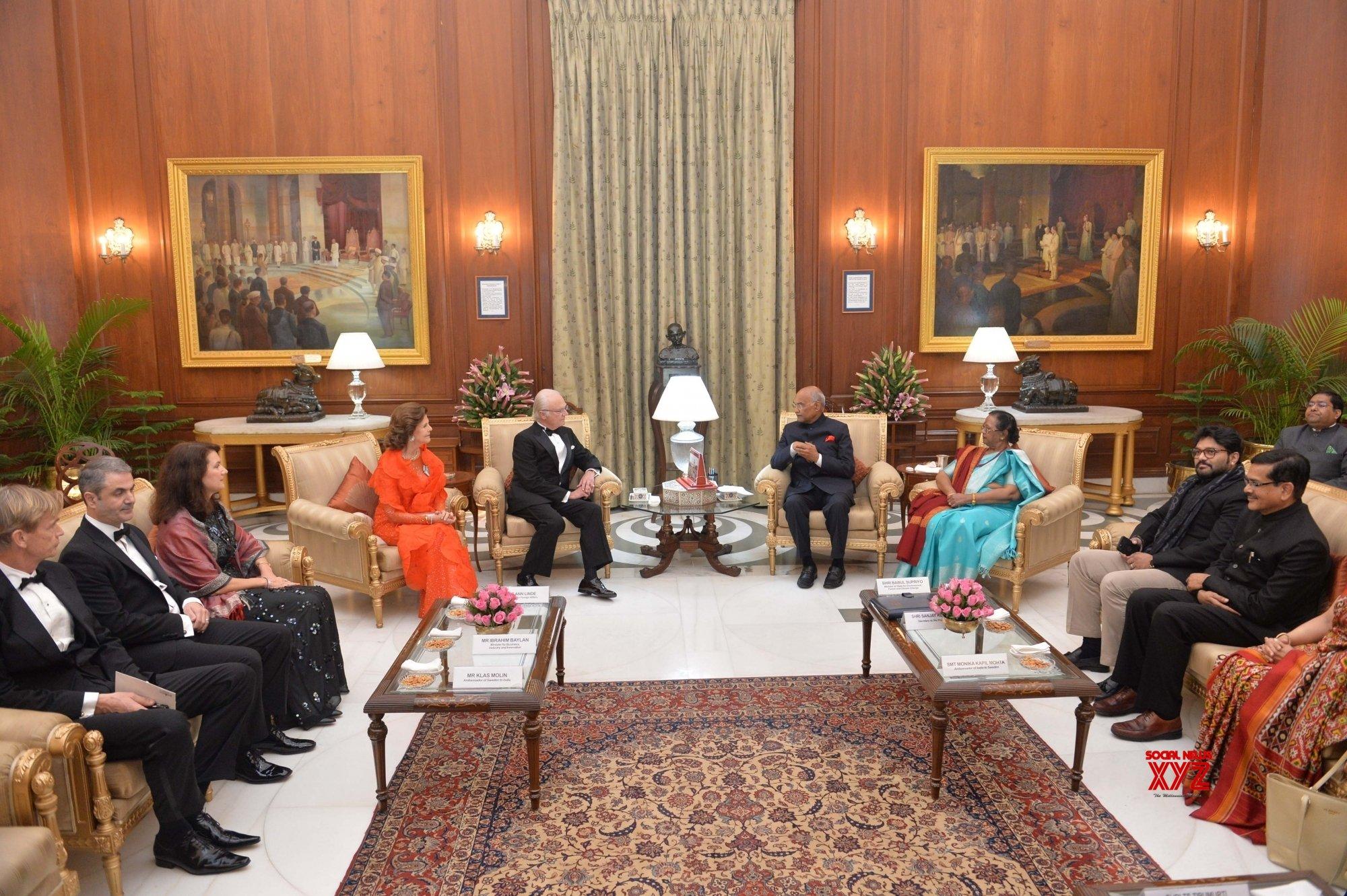 New Delhi: Swedish King, Queen meets President Kovind #Gallery
