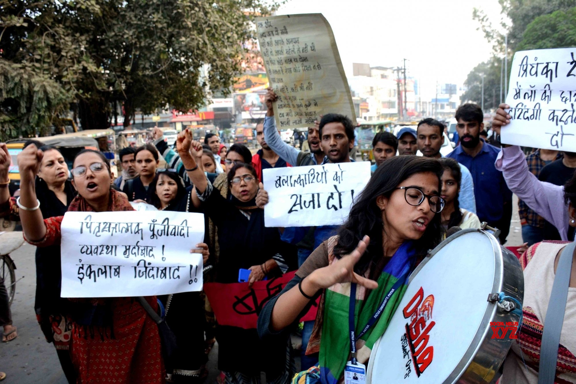 Patna: Disha's protest against Hyderabad gang rape - murder #Gallery