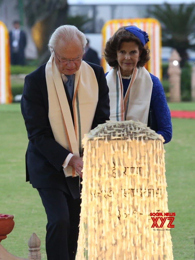 New Delhi: Swedish King, Queen visit Gandhi Smriti #Gallery