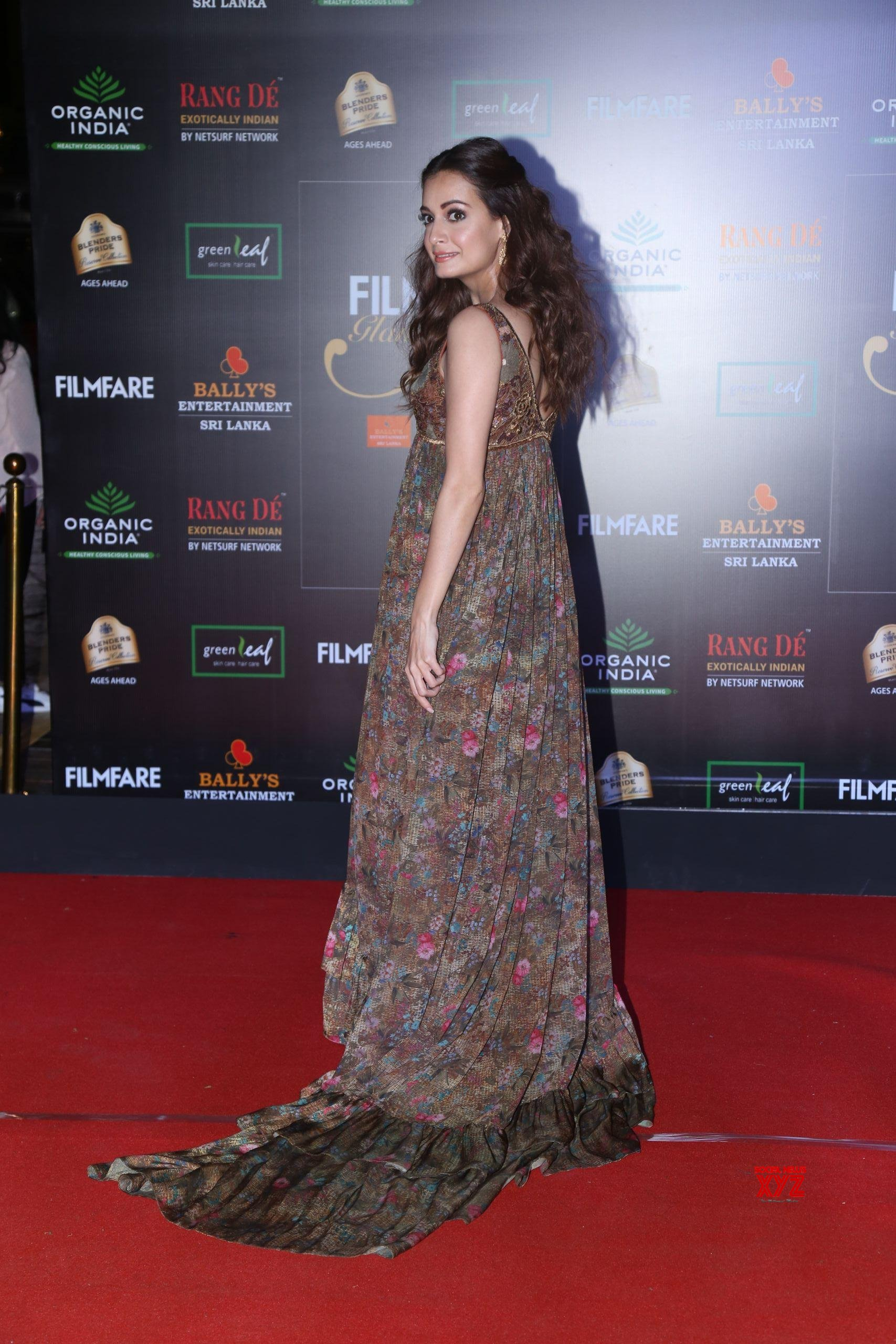 Actress Dia Mirza Hot HD Stills From Filmfare Glamour And Style Awards 2019 Red Carpet