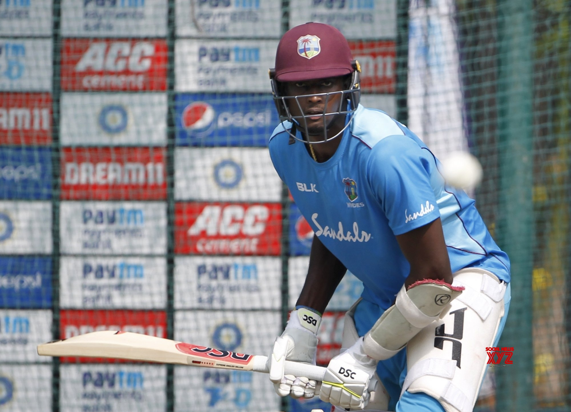 Hyderabad: West Indies - practice session - Jason Holder #Gallery