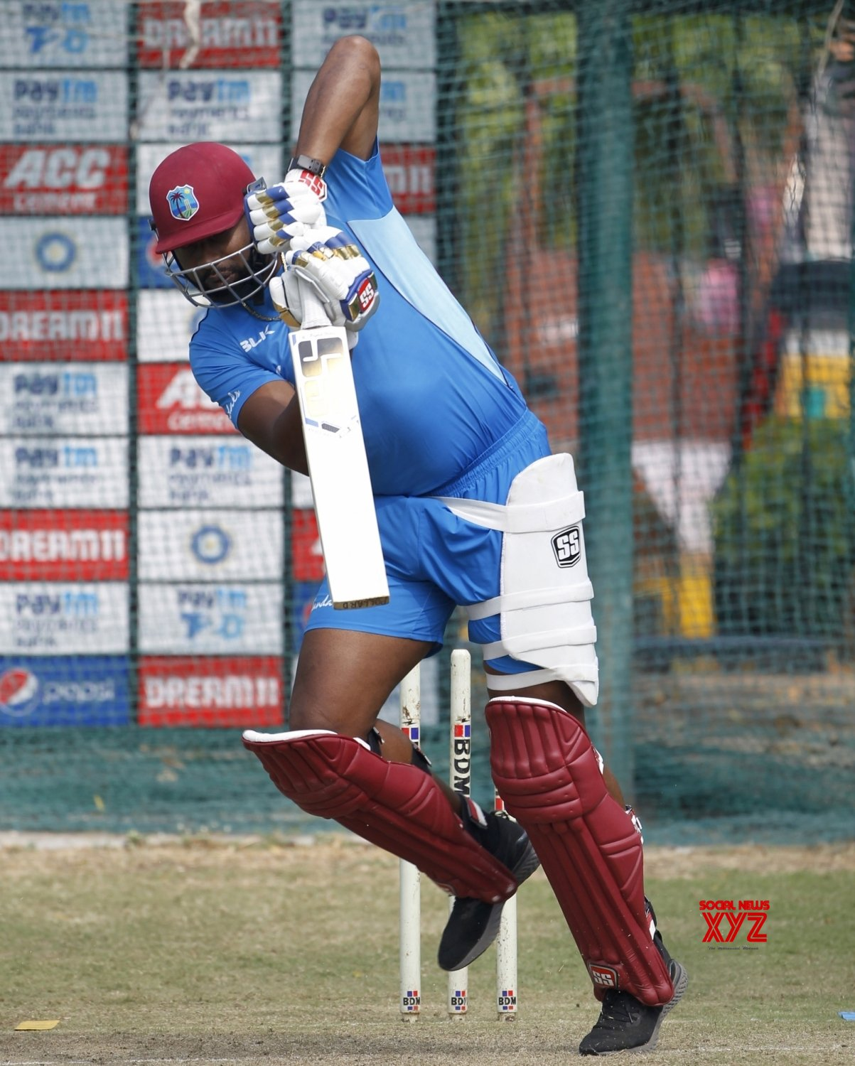 Hyderabad: West Indies - practice session - Kieron Pollard #Gallery