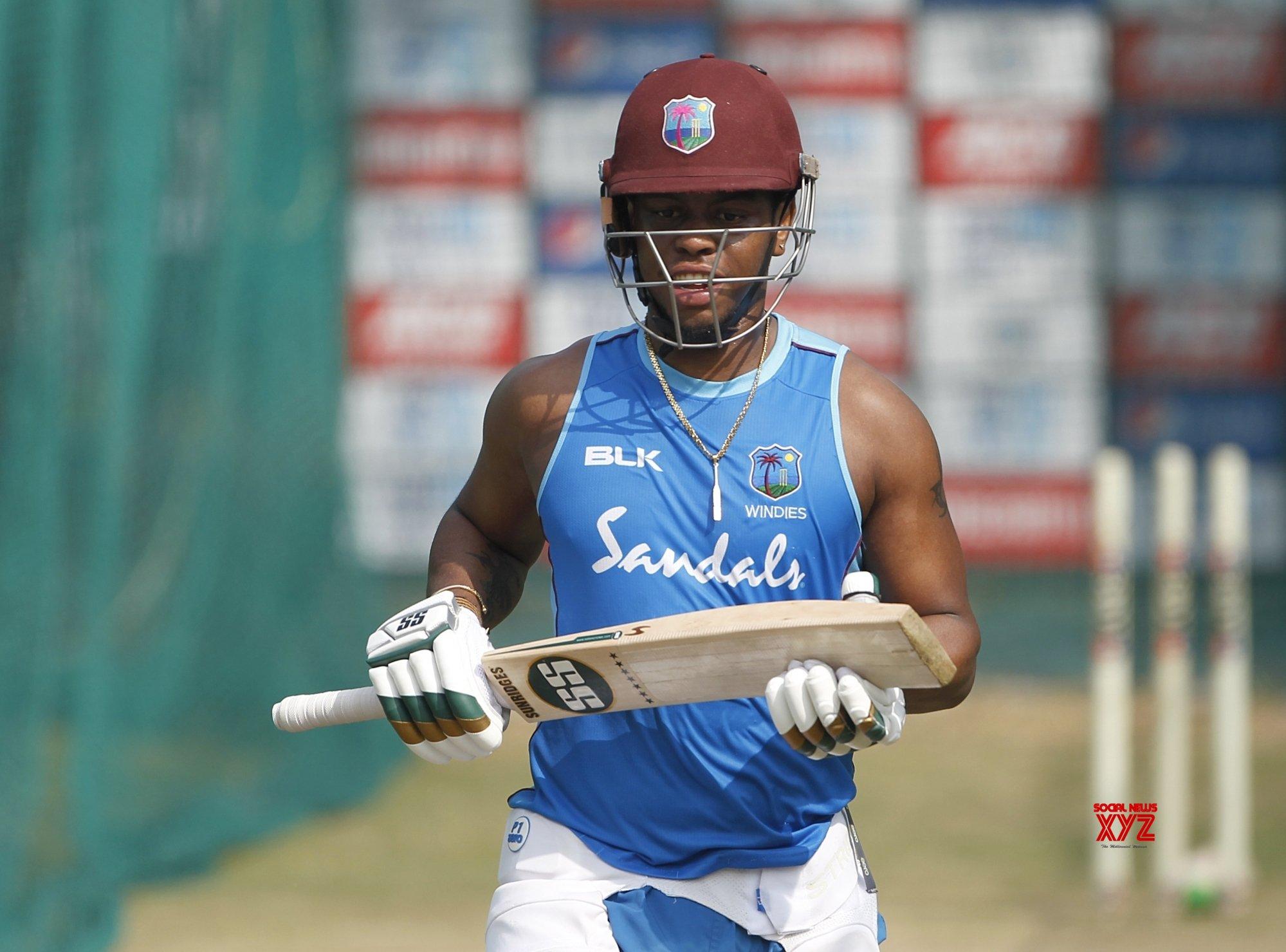Hyderabad: West Indies - practice session - Shimron Hetmyer #Gallery