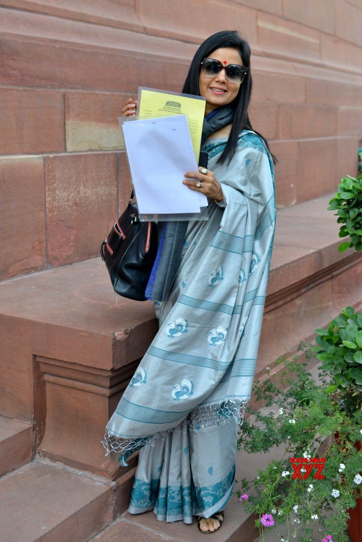 New Delhi: Mahua Moitra at Parliament #Gallery