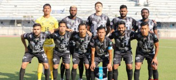 Ludhiana: Players of Punjab FC ahead of their Hero I-League match against Quess East Bengal (QEB) at the Guru Nanak Stadium in Punjab's Ludhiana, on Dec 7, 2019. Punjab FC earned their first point of the season, as they frustrated and held QEB to a 1-1 draw. (Photo: IANS)