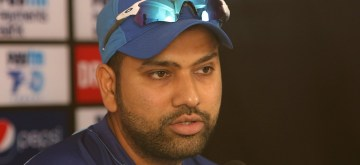Mumbai: India's Rohit Sharma addresses a press conference ahead of the third T20I match against West Indies in Mumbai on Dec 10, 2019. (Photo: Surjeet Yadav/IANS)