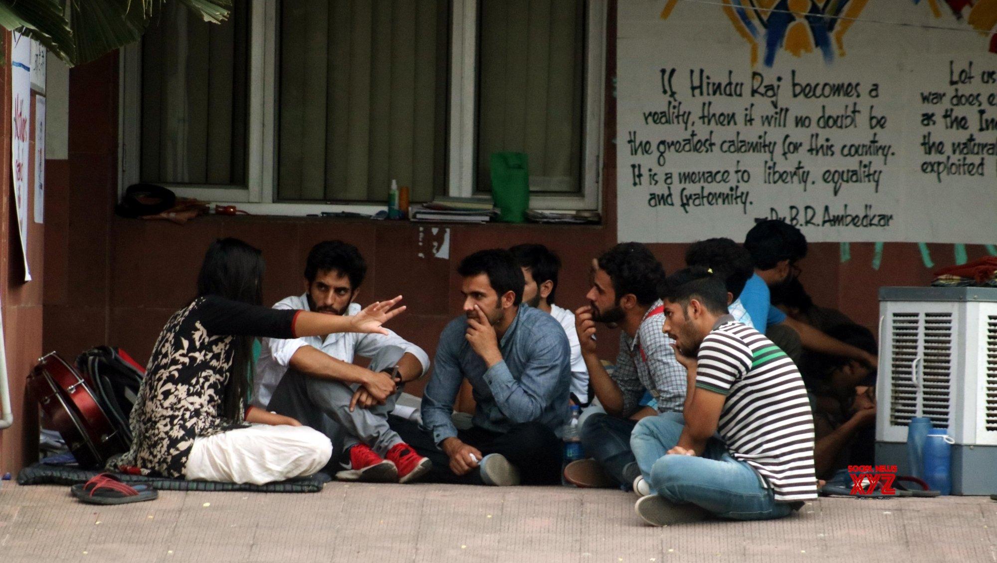 Qualifying criteria: Hyderabad varsity students sit on hunger strike
