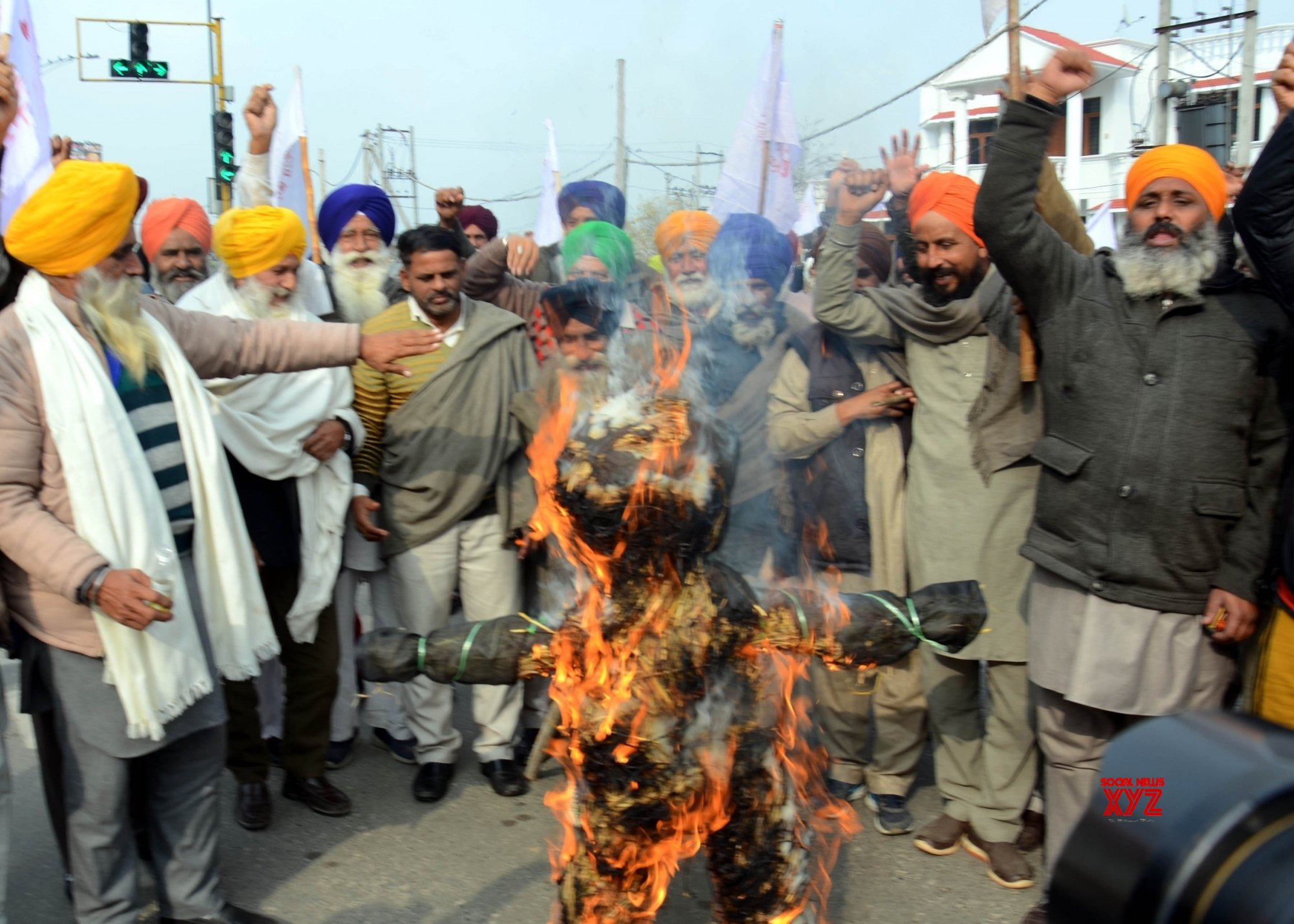 Amritsar: Trade Unions protest during nationwide strike #Gallery