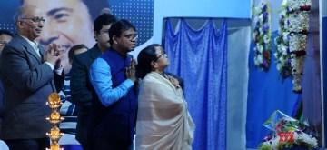 Kolkata: West Bengal Chief Minister Mamata Banerjee inaugurates Gangasagar Mela 2020 at Babughat in Kolkata on Jan 08, 2020. (Photo: IANS)