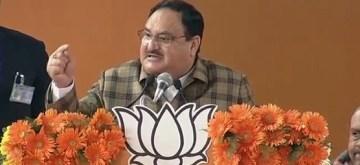 New Delhi: BJP working President JP Nadda addresses during 'Booth Karyakarta Sammelan' in New Delhi on Jan 5, 2020. (Photo: IANS)