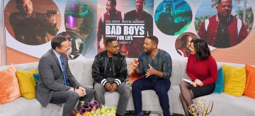 MIAMI, FLORIDA - JANUARY 13: Alan Tacher, Martin Lawrence, Will Smith and Karla Martinez on set of Despierta America during Miami Press Day for their upcoming film Bad Boys For LIfe on January 13, 2020 in Miami, Florida. (Photo by Alexander Tamargo/Getty Images for Sony Pictures Entertainment)